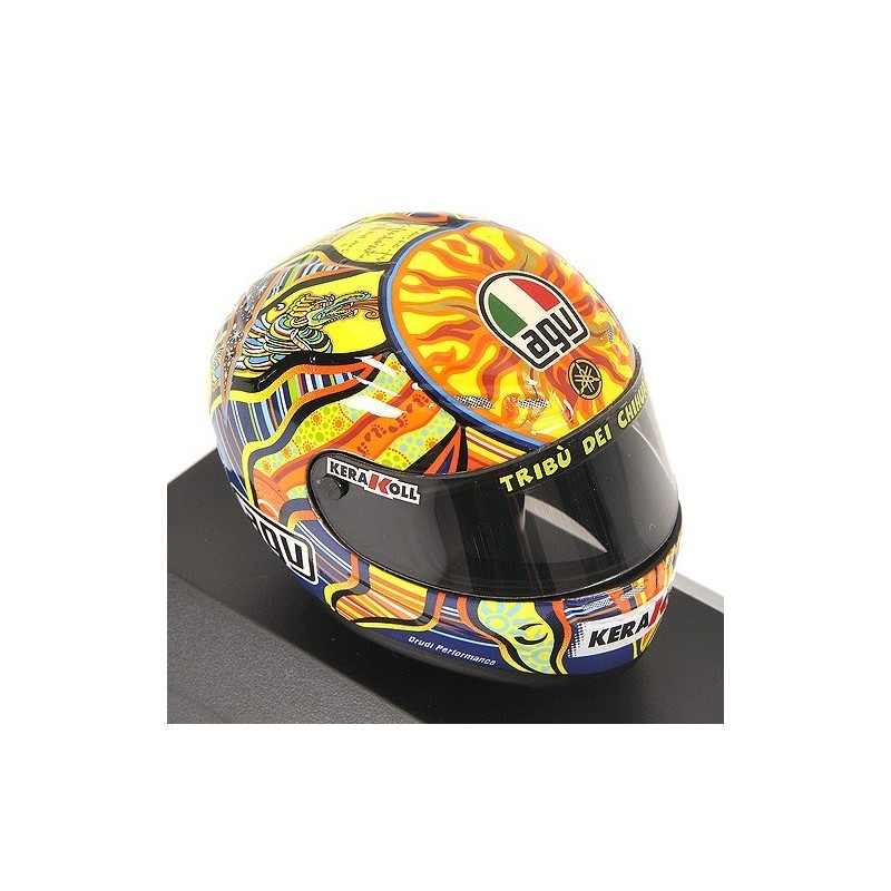 casque 1 8 agv valentino rossi motogp 2008 minichamps 398080046 miniatures minichamps. Black Bedroom Furniture Sets. Home Design Ideas