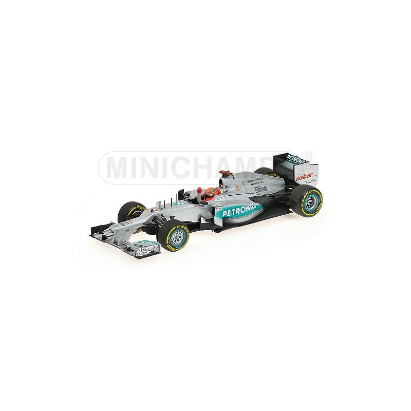 mercedes gp w03 3rd valence 2012 michael schumacher minichamps 410120207 miniatures minichamps. Black Bedroom Furniture Sets. Home Design Ideas