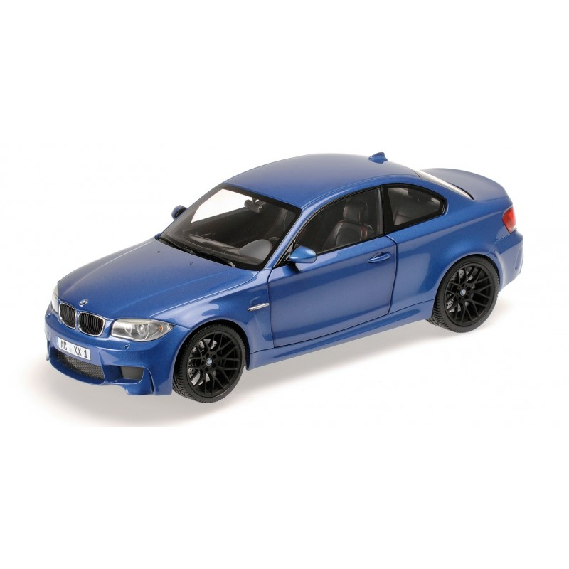bmw 1er m coupe 2011 bleue minichamps 110020025 miniatures minichamps. Black Bedroom Furniture Sets. Home Design Ideas