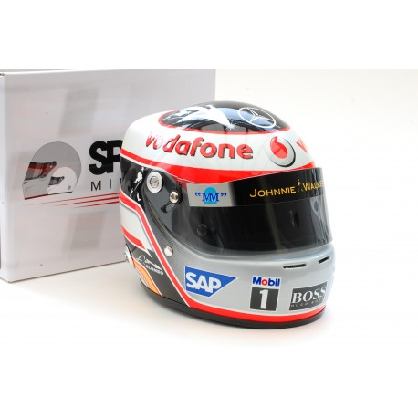 casque 1 2 fernando alonso f1 2007 miniatures minichamps. Black Bedroom Furniture Sets. Home Design Ideas
