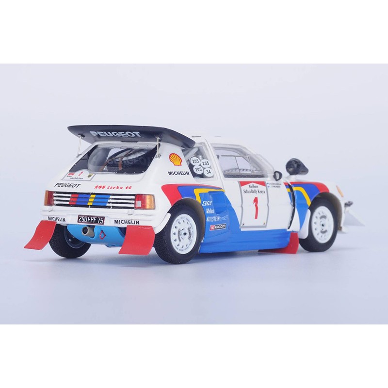 peugeot 205 t16 1 safari rallye 1986 kankkunen pironen spark s1297 miniatures minichamps. Black Bedroom Furniture Sets. Home Design Ideas