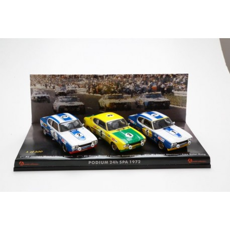 Set 3 cars Ford Capri 24 Heures de Spa Francorchamps 1972 Trofeu THOM07