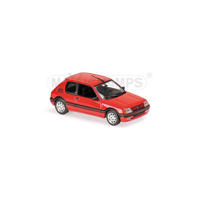 peugeot 205 gti 1990 rouge maxichamps 940112300. Black Bedroom Furniture Sets. Home Design Ideas