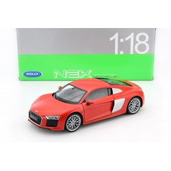 Audi R8 V10 Rouge 2016 Welly 18052r