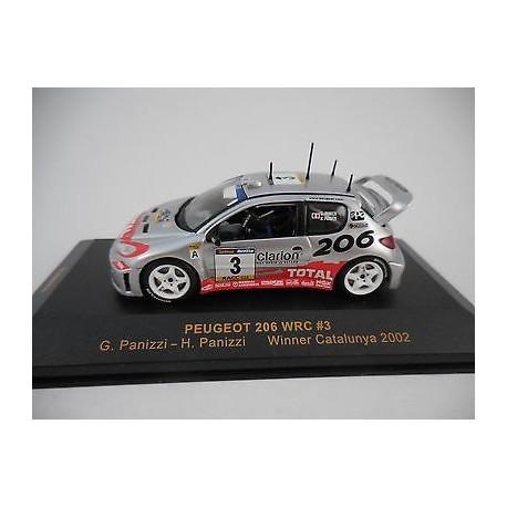 Peugeot 206 WRC 3 Rallye de Catalogne 2002 Panizzi Panizzi IXO RAM084