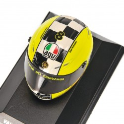Casque 1/8 AGV Valentino Rossi Moto GP Winter Test 2009 Minichamps 398090086