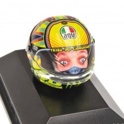 Casque 1/8 AGV Valentino Rossi Moto GP Test Sepang 2014 Minichamps 398140076