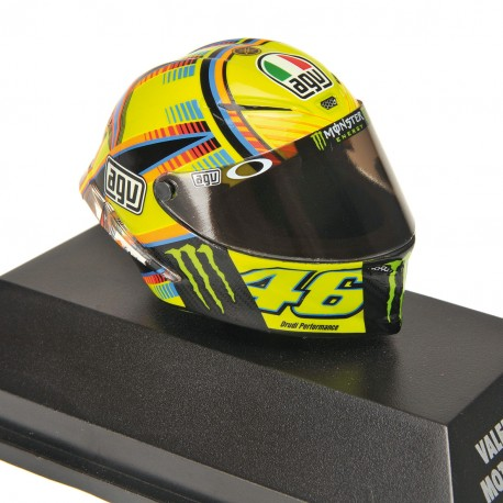 Casque 1/8 AGV Valentino Rossi Moto GP Qatar 2014 Minichamps 398140056