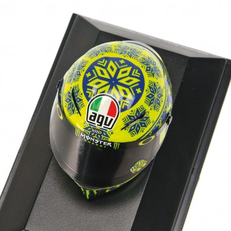 Casque 1/8 AGV Valentino Rossi Moto GP Test Sepang 2015 Minichamps 398150076