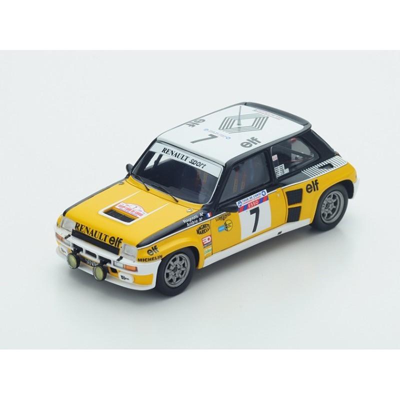 renault 5 turbo 7 tour de corse 1982 ragnotti andrie spark s3862 miniatures minichamps. Black Bedroom Furniture Sets. Home Design Ideas