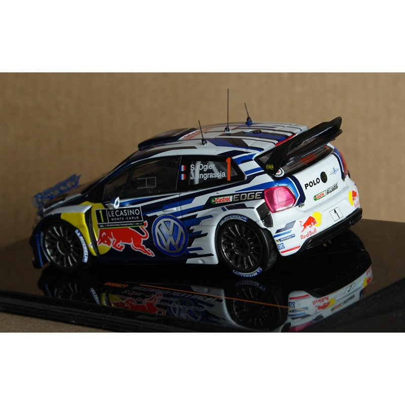 volkswagen polo r wrc 1 rallye monte carlo 2016 ogier ingrassia ixo ram621 miniatures minichamps. Black Bedroom Furniture Sets. Home Design Ideas