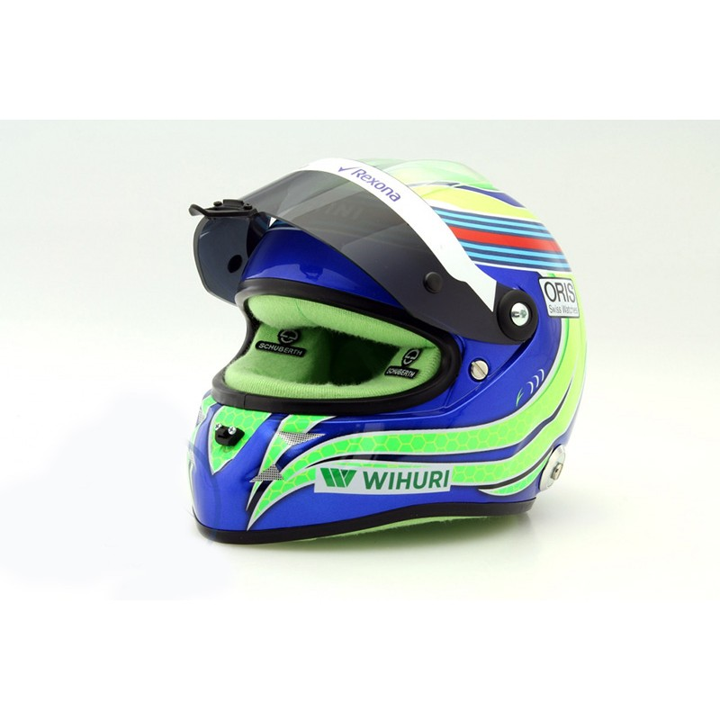 casque 1 2 felipe massa f1 2016 schuberth miniatures minichamps. Black Bedroom Furniture Sets. Home Design Ideas