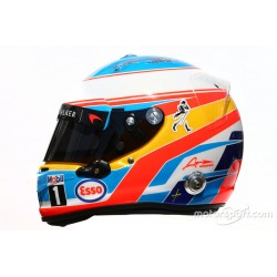 Casque 1/2 Fernando Alonso F1 2016 Arai