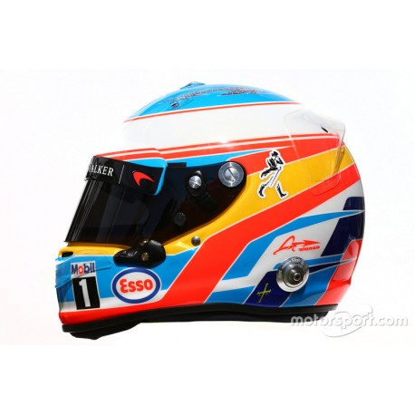 casque 1 2 fernando alonso f1 2016 arai miniatures minichamps. Black Bedroom Furniture Sets. Home Design Ideas
