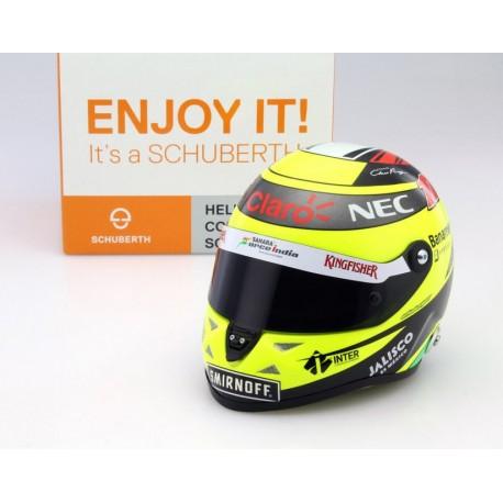 Casque 1/2 Sergio Perez F1 2016 Schuberth