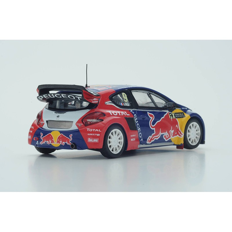 peugeot 208 9 world rx latvia 2016 s bastien loeb spark s5193 miniatures minichamps. Black Bedroom Furniture Sets. Home Design Ideas