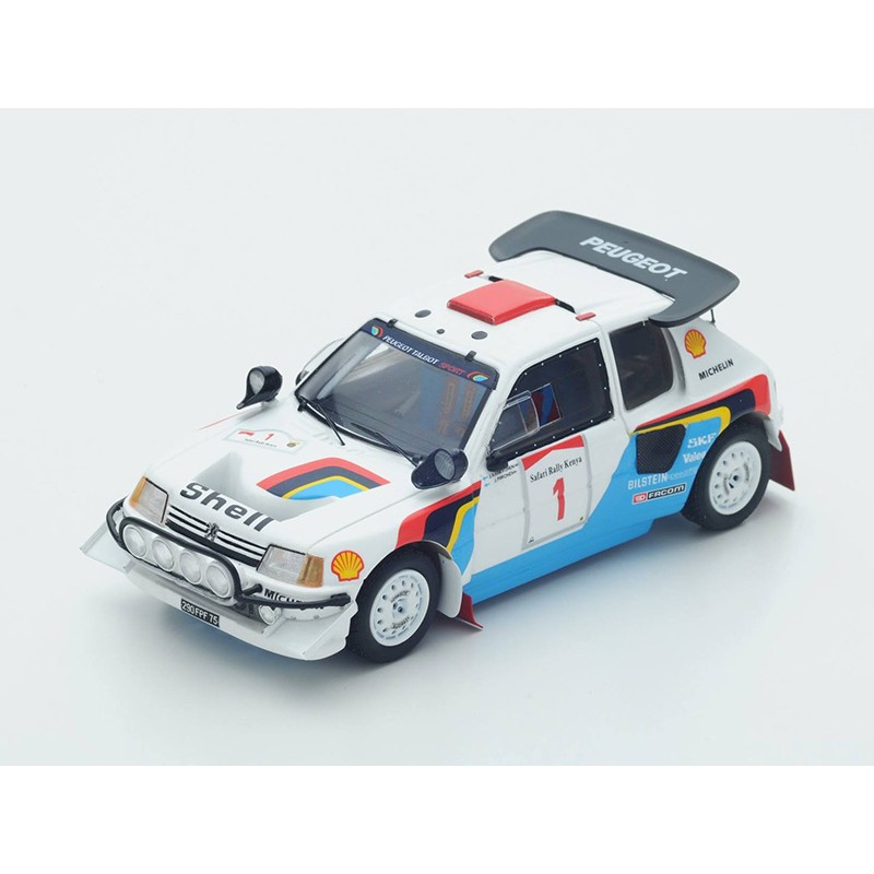 peugeot 205 t16 1 safari rallye 1986 kankkunen pironen spark s1297 miniatures minichamps. Black Bedroom Furniture Sets. Home Design Ideas
