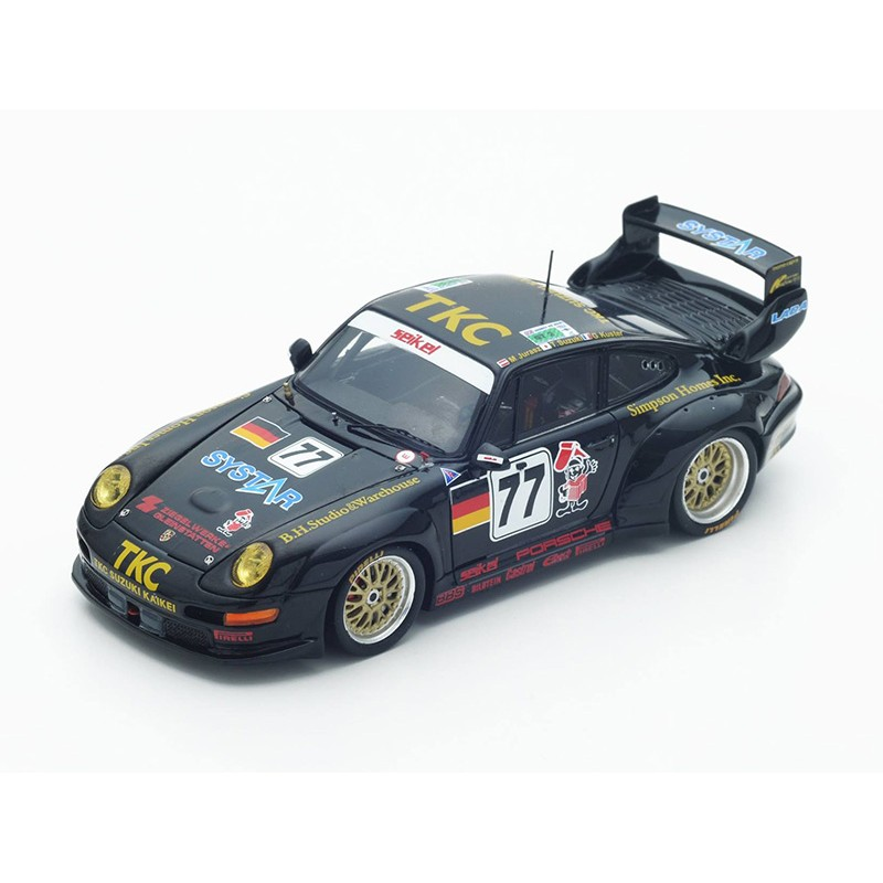 porsche 911 gt2 77 24 heures du mans 1996 spark s4447 miniatures minichamps. Black Bedroom Furniture Sets. Home Design Ideas