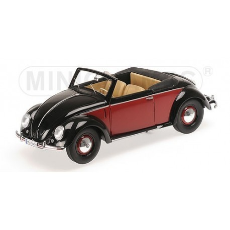 Volkswagen 1200 Cabriolet 1949 Noire et Rouge Minichamps 107054230