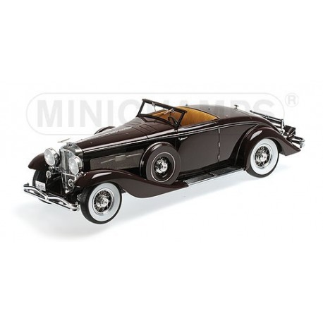 Duesenberg SJN Converticle Coupe 1936 Bleu Minichamps 107150331
