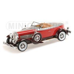 Duesenberg Model J Torpedo Convertible Coupe 1929 Rouge Minichamps 107150430