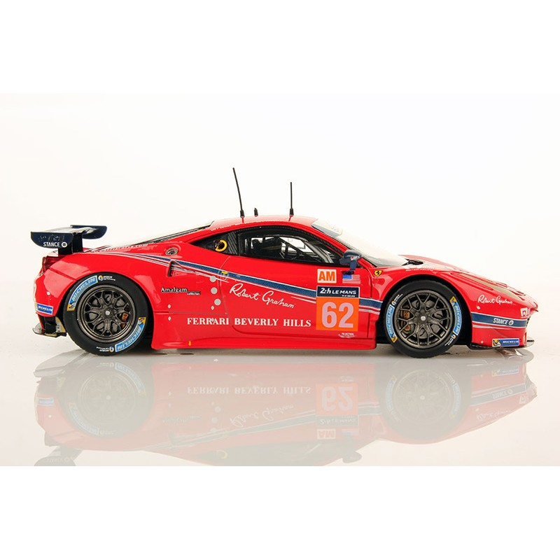 ferrari 458 italia 62 24 heures du mans 2016 looksmart lslm038 miniatures minichamps. Black Bedroom Furniture Sets. Home Design Ideas