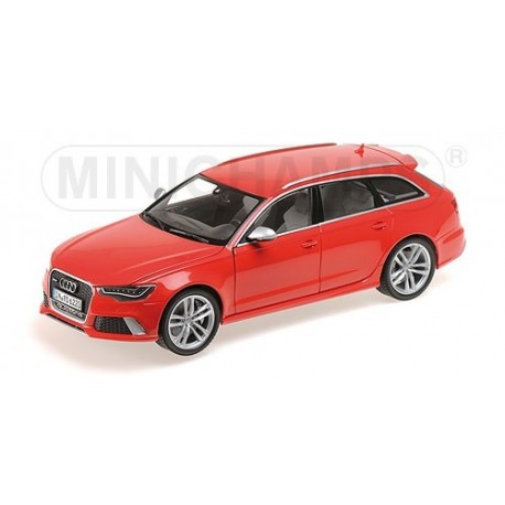 Audi RS6 Avant 2013 Rouge Minichamps 110012011
