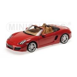Porsche Boxster 981 2012 Rouge Minichamps 110062031