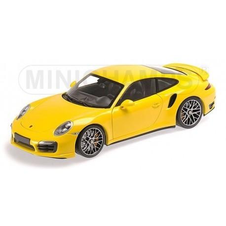 Porsche 911 Turbo S 991 2013 Jaune Minichamps 110062322
