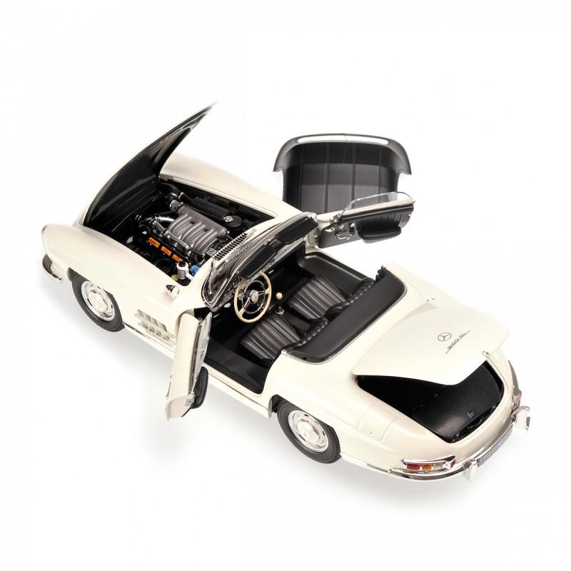 Mercedes benz 300 sl roadster w198 1957 blanche minichamps for Mercedes benz loyalty discount