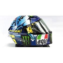 Casque 1/8 AGV Valentino Rossi Moto GP Misano 2015 Minichamps 398150096