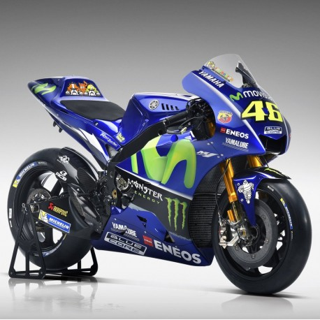 yamaha yzr m1 46 valentino rossi moto gp 2017 spark m43036 miniatures minichamps. Black Bedroom Furniture Sets. Home Design Ideas