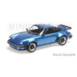 Porsche 911 Turbo 1977 Bleue Minichamps 125066104