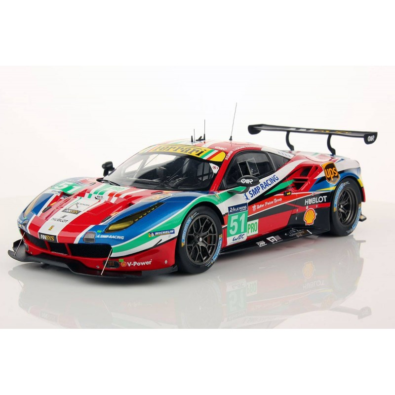 ferrari 488 gte 51 24 heures du mans 2016 looksmart ls18lm010 miniatures minichamps. Black Bedroom Furniture Sets. Home Design Ideas