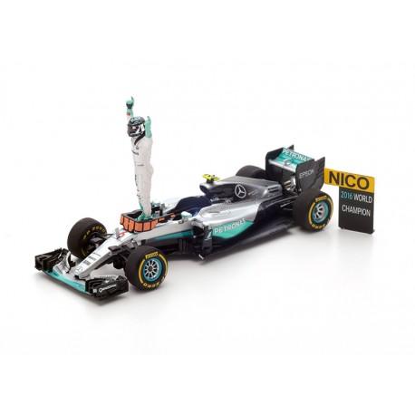Set World Champion Mercedes W07 Hybrid 6 Grand Prix de F1 2016 Nico Rosberg Spark S5025