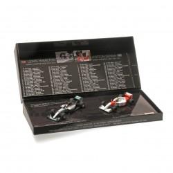 """Set de 2 Voitures """"41ème Victoires"""" - Hamilton Japon 2015 - Senna Australie 1993 Minichamps 412414408"""