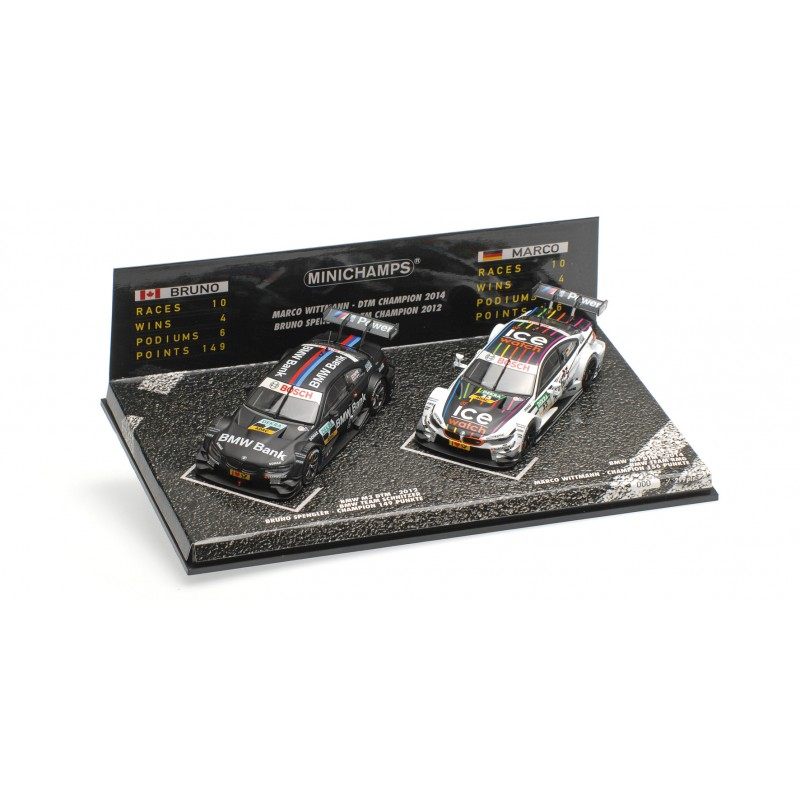 2 Car Set BMW M3/M4 Spengler/Wittmann DTM Champions 2012