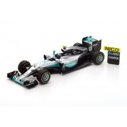Set World Champion Mercedes W07 Hybrid 6 Grand Prix de F1 2016 Nico Rosberg Spark 18S250