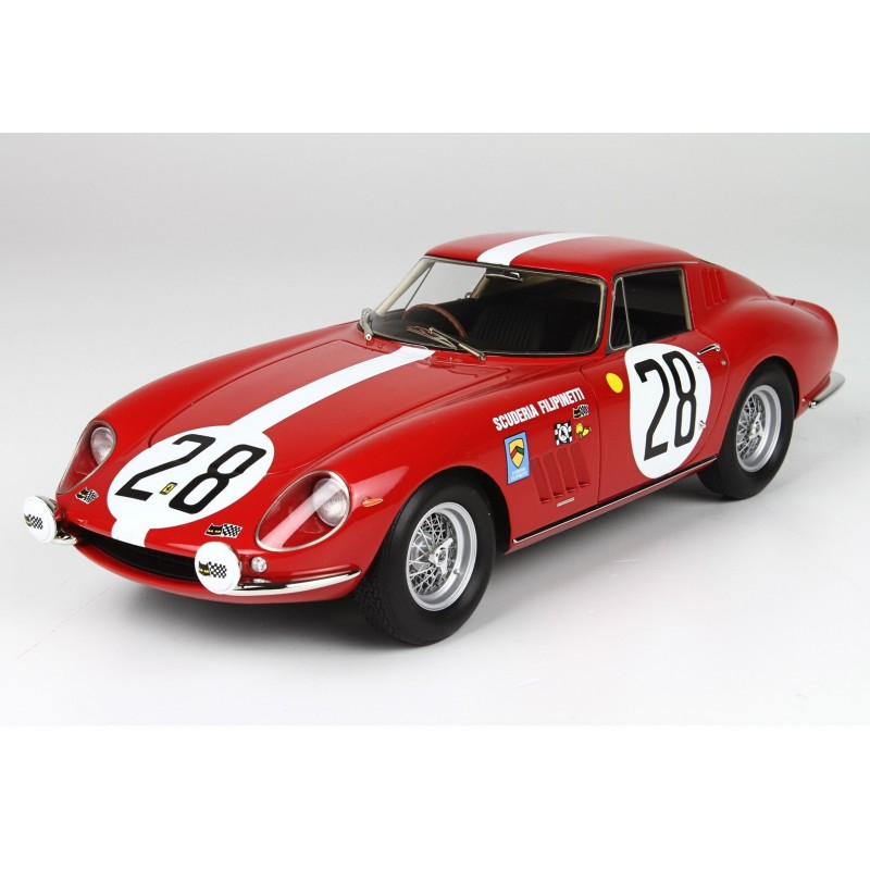 ferrari 275 gtb 28 24 heures du mans 1967 bbr bbr1828 miniatures minichamps. Black Bedroom Furniture Sets. Home Design Ideas