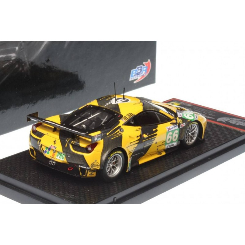 ferrari 458 italia gt2 66 24 heures du mans 2012 bbr bbrc98 miniatures minichamps. Black Bedroom Furniture Sets. Home Design Ideas