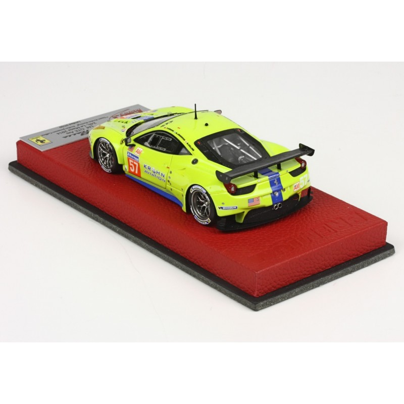 ferrari 458 italia lm gte am 57 24 heures du mans 2014 bbr bbrc146 miniatures minichamps. Black Bedroom Furniture Sets. Home Design Ideas