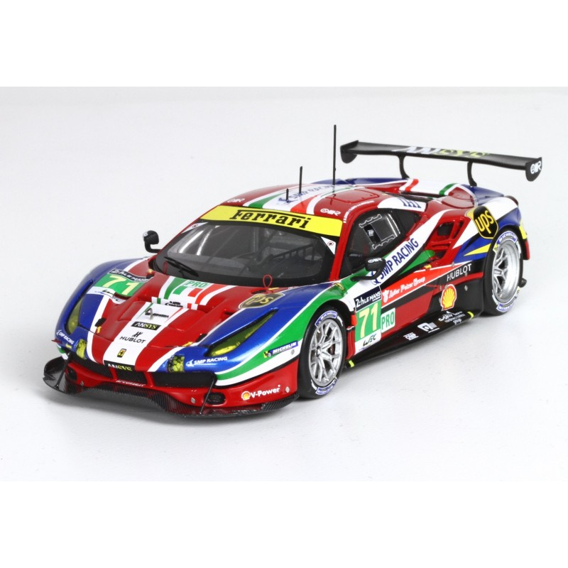 ferrari 488 gte 71 24 heures du mans 2016 bbr bbrc189 miniatures minichamps. Black Bedroom Furniture Sets. Home Design Ideas