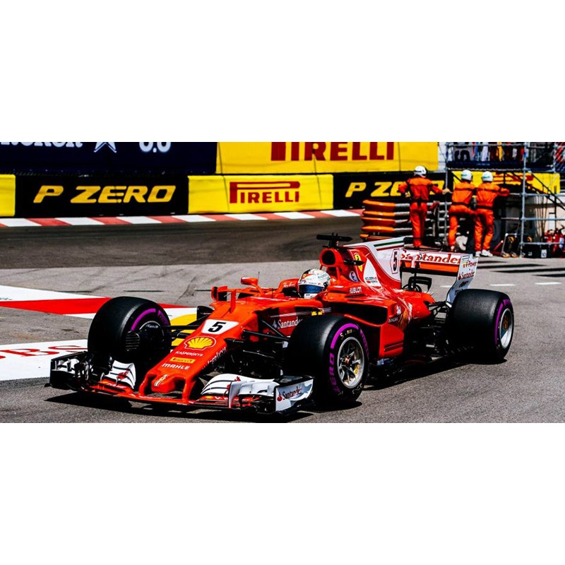 ferrari sf70 h f1 winner monaco 2017 sebastian vettel looksmart lsf109 miniatures minichamps. Black Bedroom Furniture Sets. Home Design Ideas
