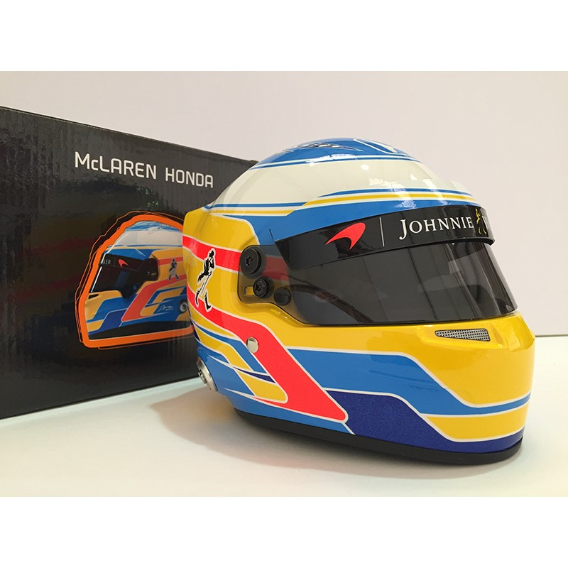 casque 1 2 fernando alonso f1 2017 bell miniatures minichamps. Black Bedroom Furniture Sets. Home Design Ideas