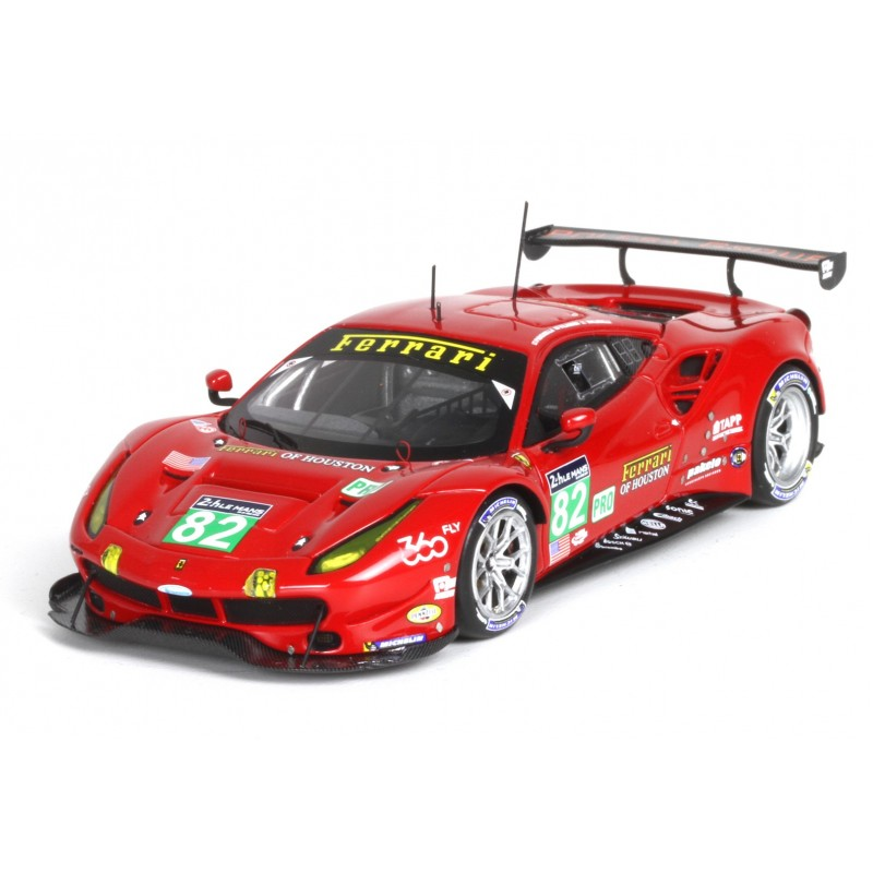 ferrari 488 gte 82 24 heures du mans 2016 bbr bbrc190 miniatures minichamps. Black Bedroom Furniture Sets. Home Design Ideas