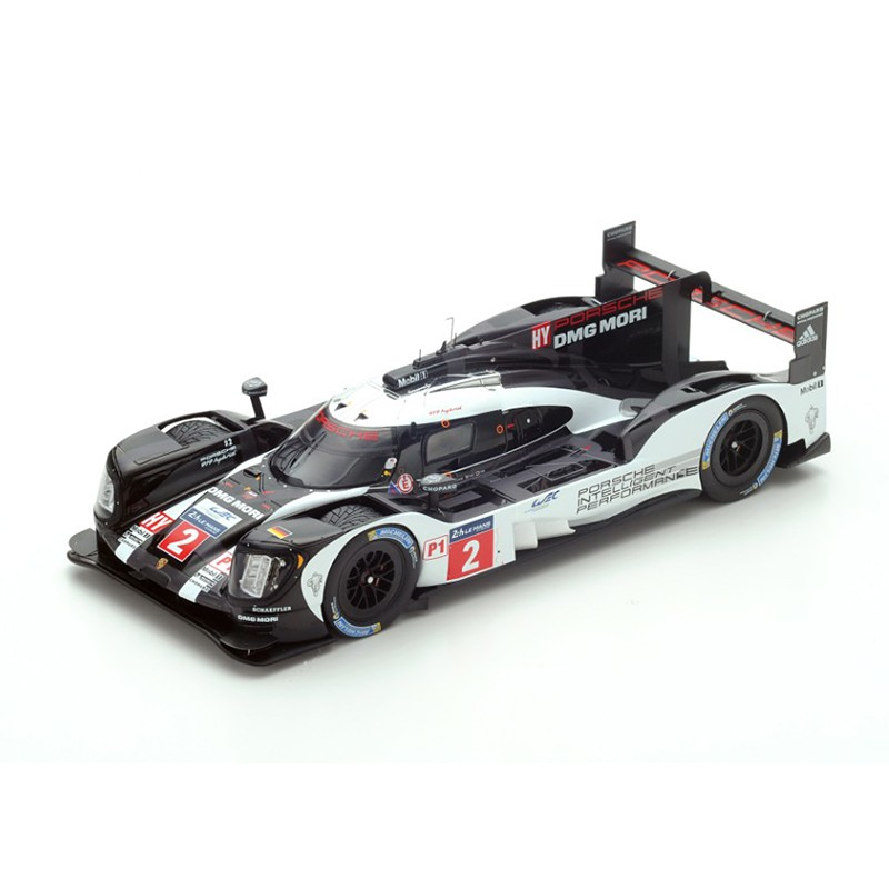 porsche 919 hybrid 2 winner 24 heures du mans 2016 spark 18lm16 miniatures minichamps. Black Bedroom Furniture Sets. Home Design Ideas