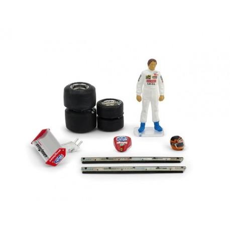 Figurine F1 1/43 Gilles Villeneuve San Marino 1982 Brumm CH01T2