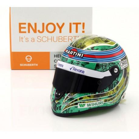 Casque 1/2 Felipe Massa F1 Brésil 2016 Almost Last Race Schuberth