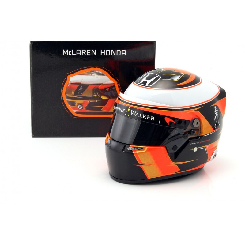 casque 1 2 stoffel vandoorne f1 2017 bell miniatures minichamps. Black Bedroom Furniture Sets. Home Design Ideas