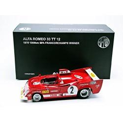 Alfa Romeo 33 TT 12 2 1000 Km de Spa Francorchamps 1975 Pescarolo Bell Autoart 87503